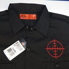 NEW NWT DICKIES EMBROIDERED GUN RIFLE SHOOTING SCOPE SITE MECHANIC WORK SHIRT