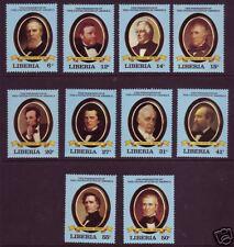 Liberia Sc 912-921 MNH, 1981 US Presidents, VF+ (10)