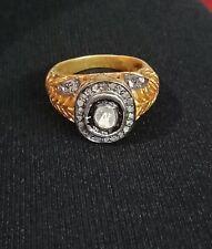 Victorian Polki Engagement Ring 925 Silver Pave Diamond Ring Handmade Jewelry