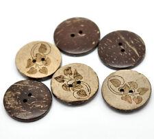 (1) 5 10 Knopf Knöpfe Kokos Kokosnuss 28 mm 2,8 cm Mengenwahl Tracht Hemd Muster