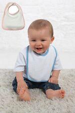 Hanes bébés petits enfants blanc tissu éponge Bavoir avec rose ou bleu clair