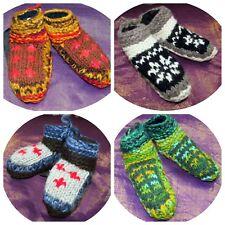 Kids Laineux Chaussettes Chaussons à grosses mailles hiver lit chaud doublé népalais Hippy Baby