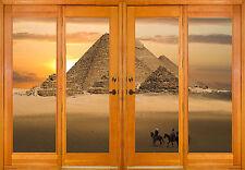 Stickers window trunk the eye deco Pyramids ref 2581 ( 10 dimensions )