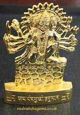 LORD HANUMANA GOLDEN METAL 5 FACE HANUMAN STATUE HINDU GOD POOJA TEMPLE PUJA AUM