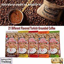 DIBEK GROUND TURKISH COFFEE - Plain Dibek and 19 Different Flavored 100g / 3,5oz