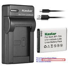 Kastar Battery Slim USB Charger for Samsung BP-70A & Samsung PL171 PL20 Camera