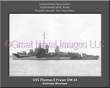USS Thomas E Fraser DM 24 Personalized Canvas Ship Photo Print Navy Veteran Gift