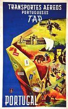 Poster Vintage TAP Portugal aerolínea A3 impresión