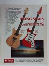 retro magazine advert 1982 WESTONE guitars