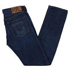 Ralph Lauren Mens Rrl Jeans Vintage Straight Slim Fit Double Rl Selvedge Denim
