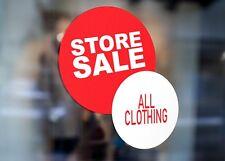 Vendita in negozio tutti i vestiti Business Large Autoadesivo Finestra Negozio Segno 2980