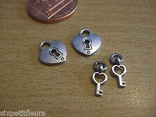 Miniatura lucchetti e chiavi x2 12mm per un 1:12 TH scala Dolls House UK Venditore