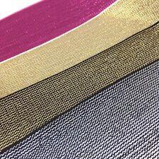 Top QUALITY Glitter Elastica con filo metallico, oro, argento, rosso, rosa, nero
