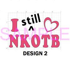 NKOTB New Kids on the Block Vinyl Sticker