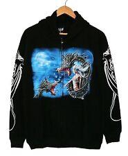 Sweat chaqueta Hoodie: dragón Lady talla M, XL, Fantasy Dragon Gothic dragón Smaug