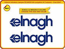 Adesivi stickers camper ELNAGH kit completo di 2 adesivi diverse misure - Cod.47