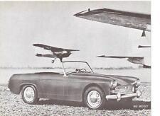 "BMC MG Midget USA ""vendite brochure'sheet 1961"