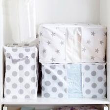 Foldable Large Thick Fiber Clothes Quilt Blanket Zip Storage Bag Box Organizers