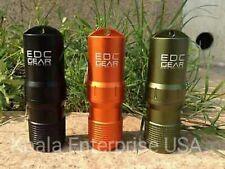 Survival Pill/Match Case Box Container Waterproof CNC Keychain Aluminum EDC BOB