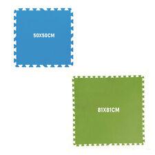 Bestway - Tappeto base modulare per piscina. 8pz - Blu 50x50cm | Verde 81x81cm