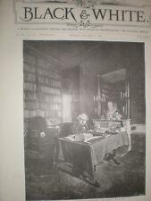 La Francia il defunto Ernest Renan 1892 Old print