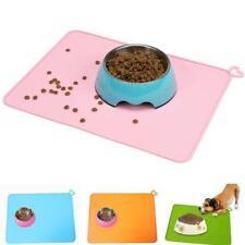 Dog Feeding Mat Pet Food Mat Non Slip Cat Dog Bowl Placemat Waterproof Q