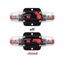 12V DC 20-100A AMP Car Audio Solar Energy Inline Circuit Breaker Fuse Holder WYS