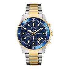 Bulova Mens Marine Star Chronograph Japanese Quartz Two Tone Watch