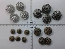 lotto bottoni gioiello filigrane pietre smalti buttons boutons vintage g2