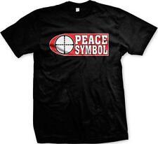 Peace Symbol Target Gun Range Pro-gun 2nd Second Amendment Mens T-shirt