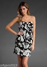 NEW TIBI Bianca Strapless Dress Black Floral $345 4/6/S