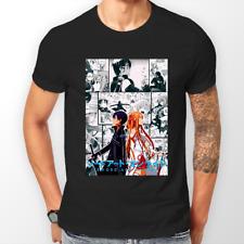 Sword Art Online Kirito Asuna Manga SAO Anime Unisex Tshirt T-Shirt Tee ALL SIZE