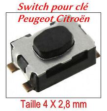 Interruptor botón desde llave plegable control remoto plip Peugeot Citroen 207