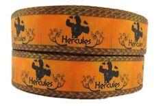 """Disney's Hercules Character 1"""" Wide Repeat Ribbon Sold in Yard Lots"""
