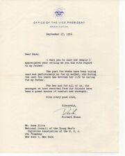 RICHARD NIXON signed letter 1956 Office of the VP letterhead