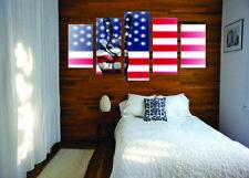 Peace America Canvas Print Set - Ready To Hang American Flag Wall Art Home Decor