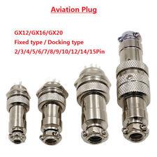 Aviation Plug GX12/GX16/GX20 Male Socket+Female Plug Metal Connector 2-15Pin