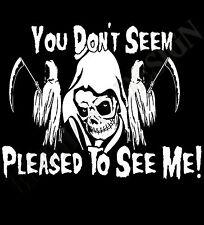 The Grim Reaper Gothic Hoody Mens Womens Heavy Rock Metal Fear Don't Cult Hoodie