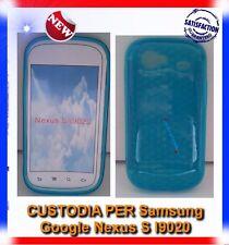 Pellicola+Custodia EXA AZZURRO per Samsung I9020 Nexus S (B4)