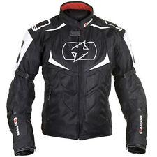 OXFORD Melbourne ARIA VENTILATO TESSUTO ESTIVI MOTO MOTOCICLETTA Giacca nera/