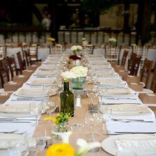 "Burlap Table Runner 14"" Wide x108"" Long Wedding Event 100% Natural Refined Jute"