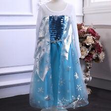 New Frozen Princess  Elsa  Girl  Costume Dress Skirt  C