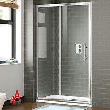 Shower Screen Enclosure Wall to Wall Framed Sliding Door Rail Adjustable