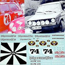 VW GOLF 1 RALLYE Jägermeister RALLYE MONTE CARLO 1974 1:43 Pegatina Adhesivo