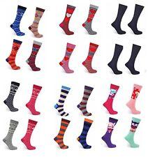 12 Pairs Ladies Multi Designs Novelty Cosy Thermal Socks Women's Warm Winter SKI