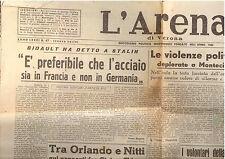 M8 L'ARENA ANNO LXXXI N. 67 DEL 19 MARZO 1947