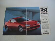 advertising Pubblicità 1992 MAZDA MX-3