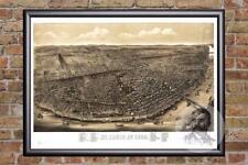 Vintage St. Louis, MO Map 1895 - Historic MIssouri Art Old Victorian Industrial