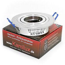 230V Rundi inkl. LED LM GU10 1,5W Einbaustrahler Alu schwenkbar drehbar 360°