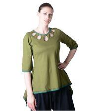 Hippie Goa Baumwoll 3/4-Sweatshirt im trendigen Indianerstyle